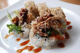 Soft shell crab sushi